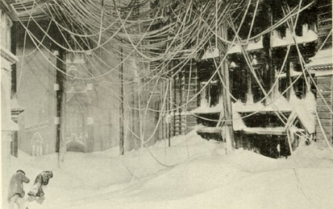 A single snowstorm can produce more than 39 million tons of snow which has energy as much as 120 atomic bombs.