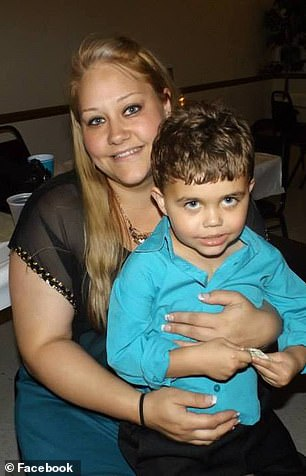 Jace's condition was stable for several years until March 15, when he collapsed while playing video games. Pictured: Jace with his mom Amy before cardiac arrest