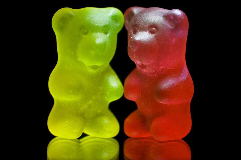 Two gummy bears