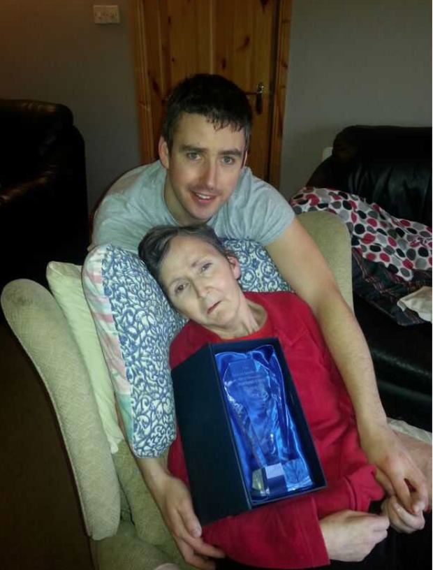 Sean Dónal O'Shea with his mum Debbie who had early-onset dementia