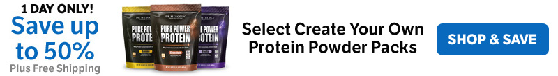 Save up to 50% on Select Create Your Own Protein Powder Packs