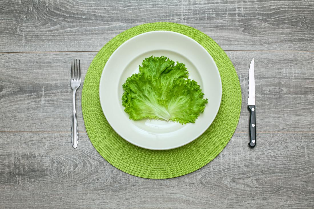 green lettuce on a plate