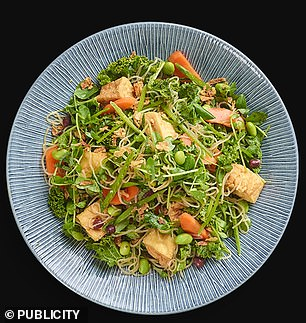 Glass noodles mixed with tofu and salad has plenty of fibre, Mr Hobson said