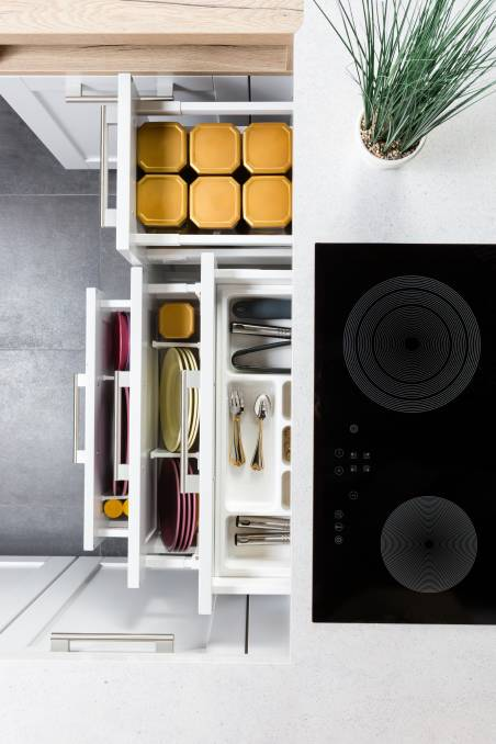 KITCHEN NIRVANA: Research shows that mental clarity, productivity and endorphins increase when you're living and working in an organised space.