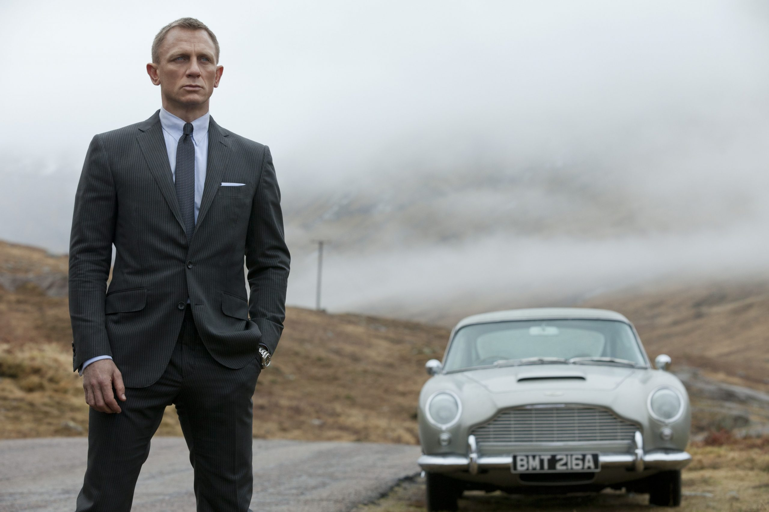 """This film image released by Columbia Pictures shows Daniel Craig as James Bond in the action adventure film, """"Skyfall."""""""