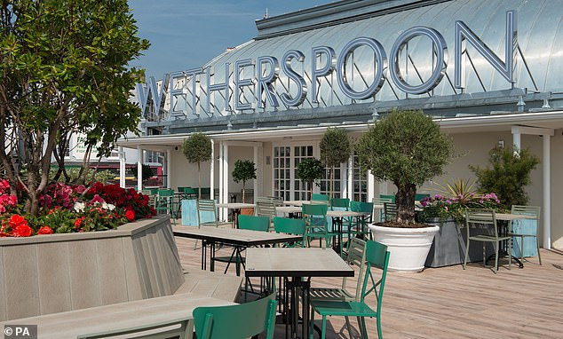 Wetherspoon's pub - the Royal Victoria Pavilion in Ramsgate - which measuring nearly 11,000 square feet and has an enormous beer garden